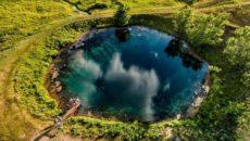 автотуризм Голубое озеро