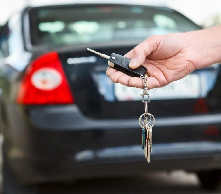 Аренда автомобиля - получение ключей