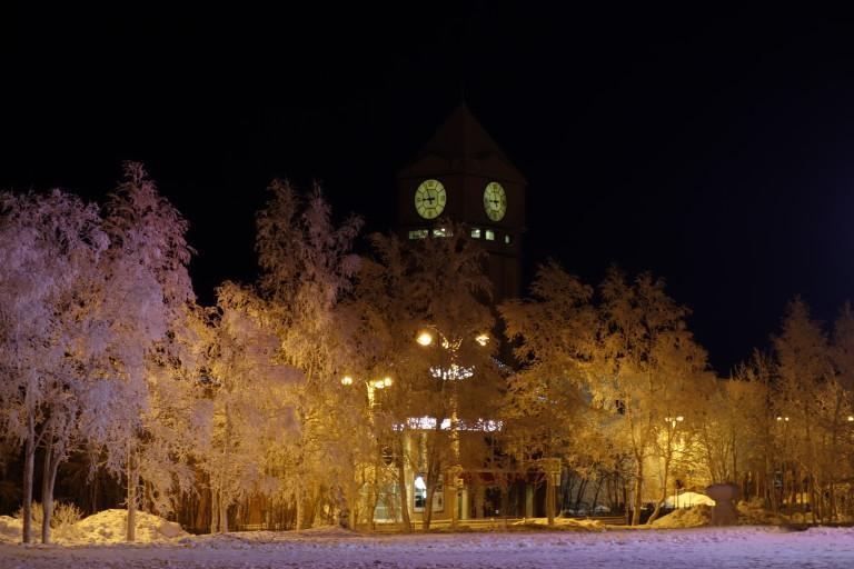 Башня, в которой располагается выставочный центр «Апатит»