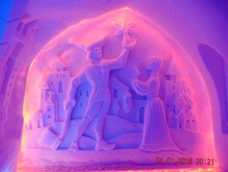 Скульптура в Снежной деревне