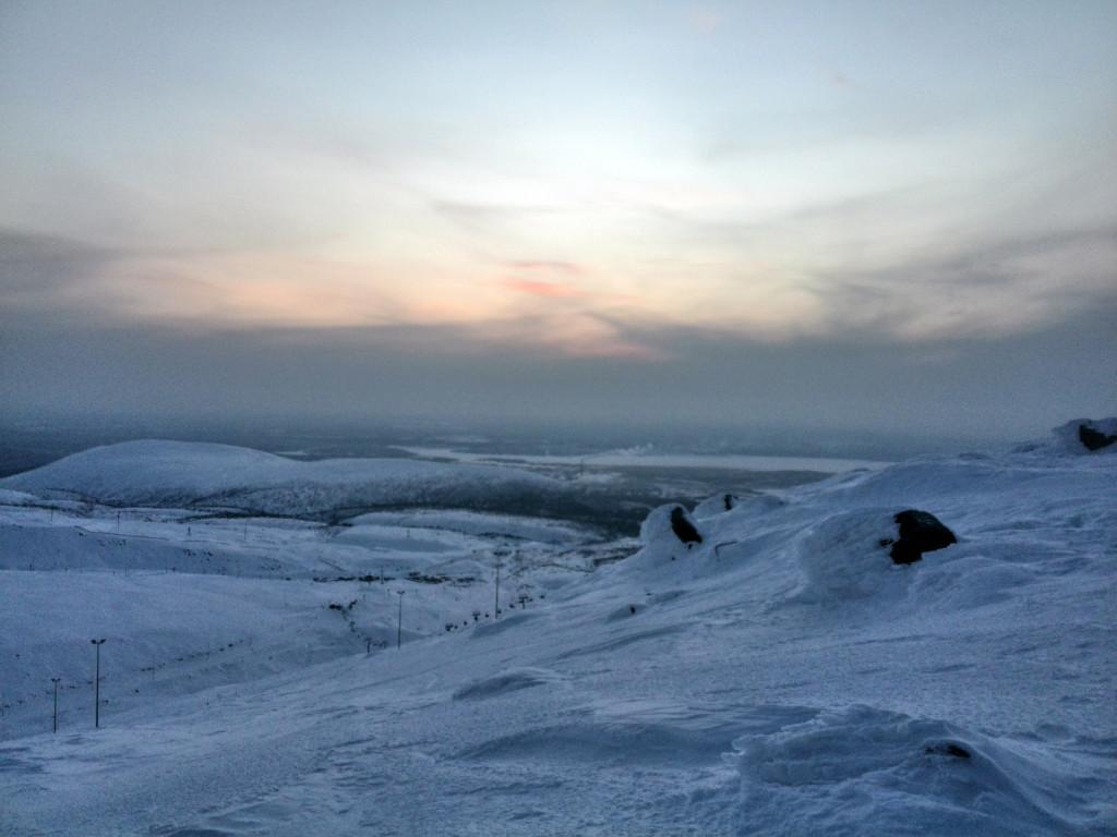 Вид со склонов БигВуда в Кировске
