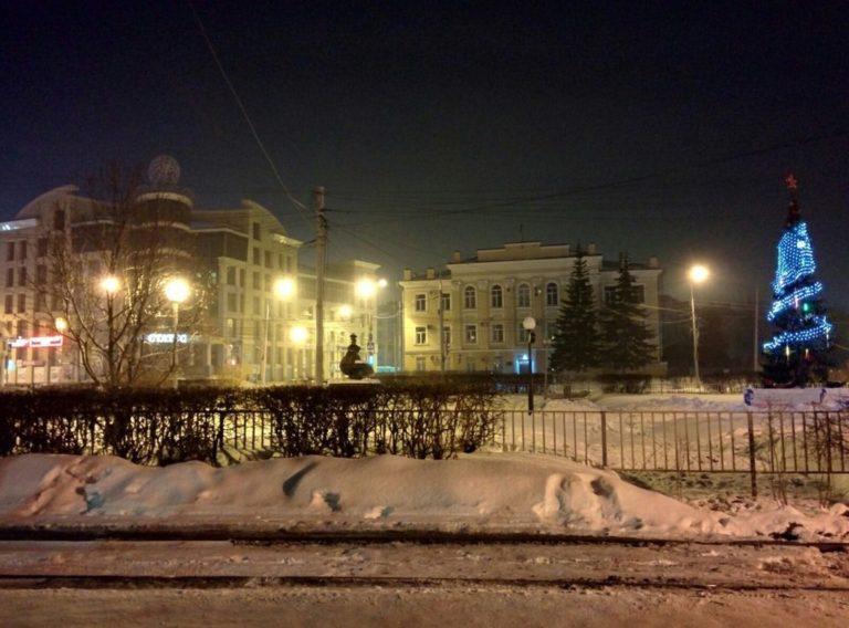 Зимний Томск Новый Год