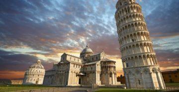 наклонная башня Пизы